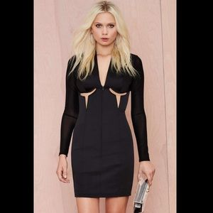 NastyGal sexy black dress with cut outs
